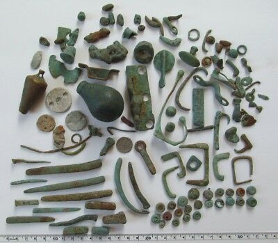 Very old Relics Metal detector finds,lot of 121 Unknown Relics?? Lost Treasures?