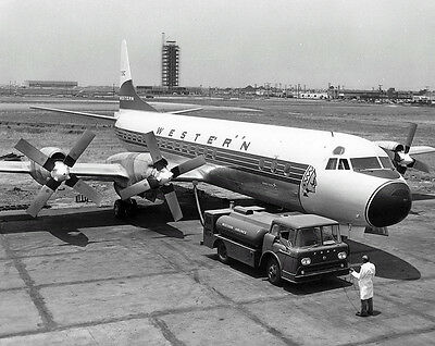 "Western Airlines Lockheed L188 Electra ((8.5""x11"")) Print"
