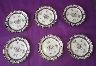 Rouard Paris 6 Assiette Porcelaine Xixeme Antique Porcelain Plate 19Th No Sevres