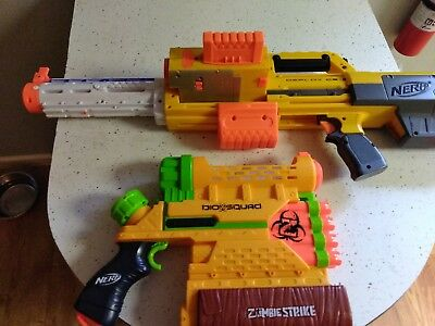 Nerf Guns lot of 2  Zombie Strike And Deploy CS-6