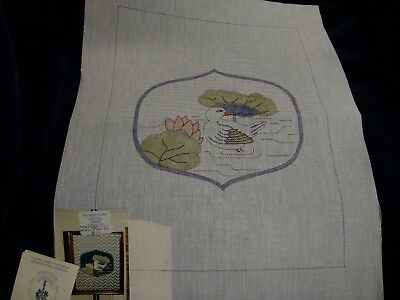 HCN3 - DUCK AND LILY PAD - Village Needlecraft - Needlepoint CANVAS