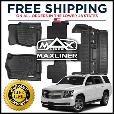 2015-2017 3rd Row Black MAXLINER C0153 Floor Mats for Chevrolet Tahoe//GMC Yukon