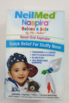 Nasal-Oral Aspirator NeilMed Naspira Babies & Kids Quick Relief For Stuffy Nose