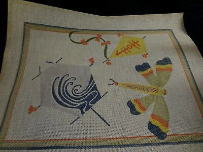 Kites and Dragonfly - Village Needlecraft - Needlepoint CANVAS
