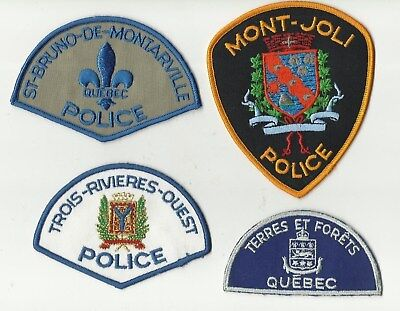 Terres & Forets /Trois-Riv-Ouest / St-Bruno / Mont-Joli (QUEBEC) Police Patches