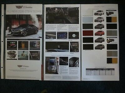 2016 Cadillac Cts-V  Dealer Showroom Display Laminated Pages Brochure Very Cool