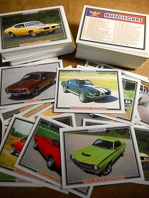 Musclecar Trading Cards - One Complete Set Plus 100+ Extras - Free Shipping