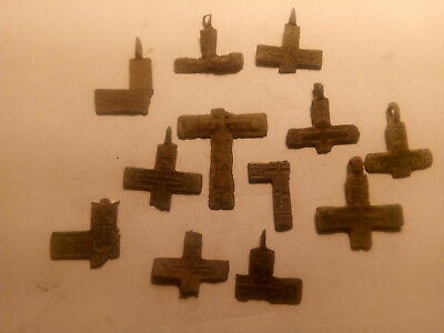 Metal detector finds. Ancient finds, ancient cross N30