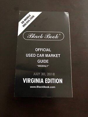Brand New. BLACK BOOK USED CAR BOOK PRICE GUIDE  July 30th 2018