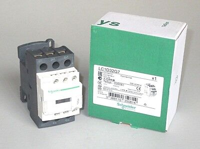 FREE PRIORITY MAIL Schneider LC1D32G7 Contactor, 120V., 32 FLA, 50A res., 3DY52