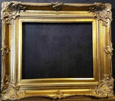 "5"" WIDE Antique Gold Ornate Victoria Baroque Wood Picture Frame 801G"
