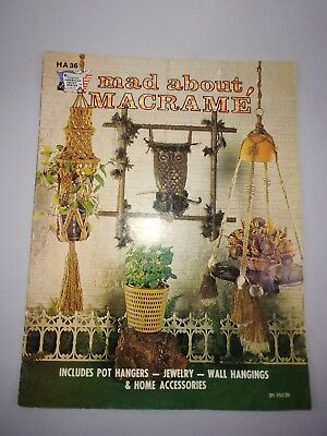 Mad About Macrame Pattern Booklet Pot Hangers Vintage 1970's