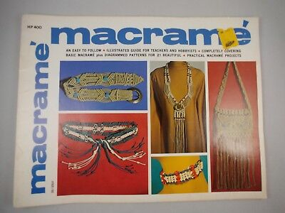 Macrame Illustrated Guide VIntage Craft Book 21 Projects