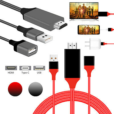 USB-C Type-C to HDMI HDTV Adapter Cable 4K For Samsung S9 S8 Note 8 Macbook Pro