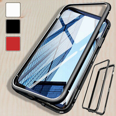Magnet Adsorption Tempered Glass Back Phone Case Cover For Samsung Galaxy Note 8