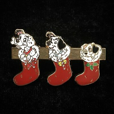 LE 101 Dalmatians Puppies Christmas Stocking 2007 Puppy Dog Mystery Disney Pin