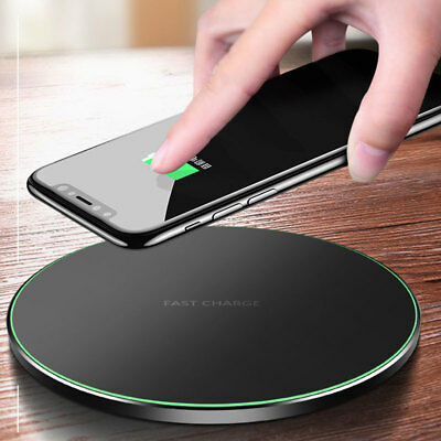 For Apple iPhone X 10 8 Plus + Metal QI Wireless Fast Charger Charging Pad Mat