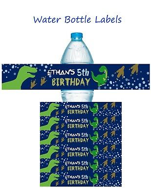Dinosaur water bottle labels, Dinosaurs, Water Bottle Labels, Birthday