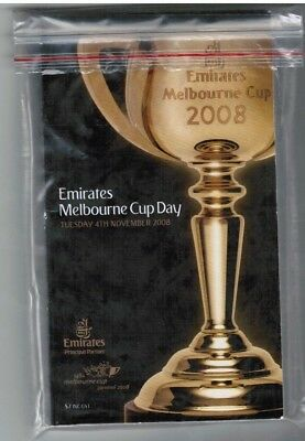 2008 Melbourne Cup Official Race Book - Viewed - Horse Racing - Bart Cummings