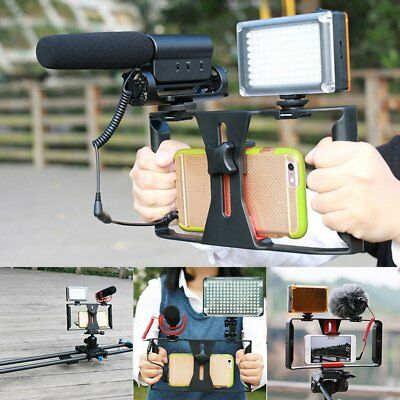 Video Camera Cage Stabilizer Film Making Rig For Smart Phone Video Rig Bracket A
