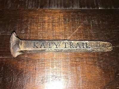 Vintage Rustic Iron Tie Spike From Old Mkt / Katy Trail Railroad Train Tracks