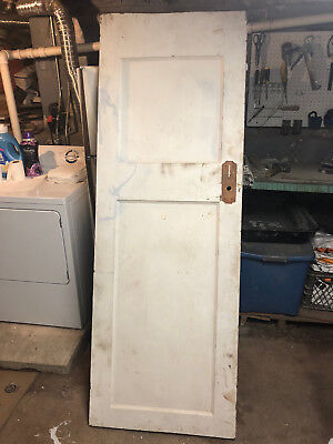 Antique Solid Wood Interior 2 Panel Door from a 1916 House 79 x 28