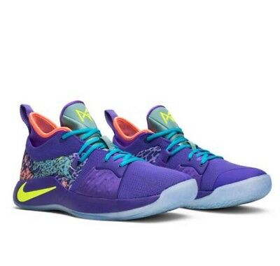 new style 21813 74b08 Nike PG 2 MM Mamba Mentality Cannon Purple Venom Paul George Size 8 (AO2986-