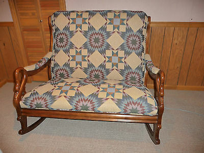 Double Gooseneck/Swan neck Rocker with Quilt Themed Fabric (1994)
