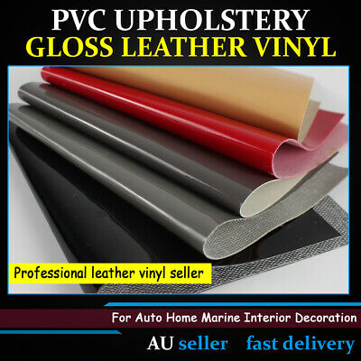 PU Faux Leather Fabric Upholstery Vinyl Auto Home Boat Renew Black/Grey/Red/Pink