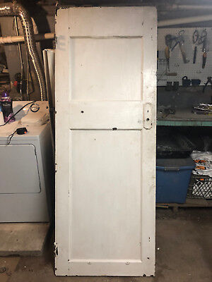 Antique Solid Wood Interior 2 Panel Door from a 1916 House 79.5 x 30