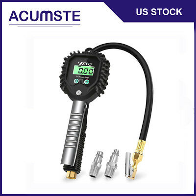 0-255PSI Car Truck Digital Tire Air Pressure Gauge Tyre Meter Tester Inflator