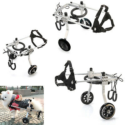 S/M/L Adjustable Dog Wheelchair for Small Dog Pets Behind legs Rehabilitation