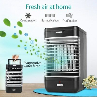 Portable Evaporative Ice Air Cooler Fan Purifier Humidifier Conditioner Cooling
