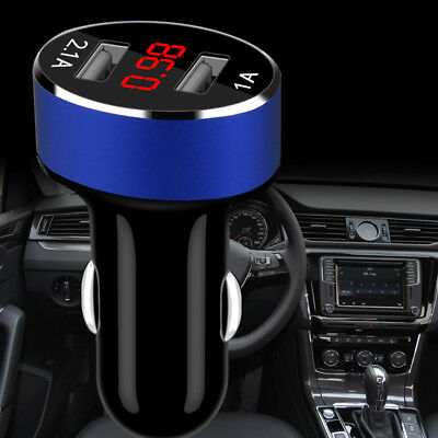 Car Charger 5V/2.1A Dual USB Port Cigarette Lighter Adapter Voltage Gracious