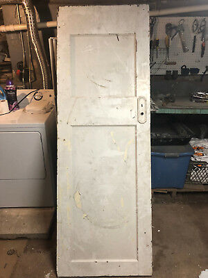 Antique Solid Wood Interior 2 Panel Door from a 1916 House 79.5 x 28