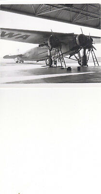 VINTAGE PHOTO FOKKER TRI-MOTOR ,TRANS-CONTINENTAL WESTERN AIR,OAKLAND ,CA 4x6