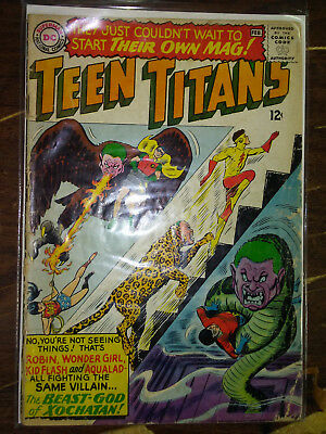 Teen Titans 1,6 1St Beast Boy Superman Dc National Comics 12 Cents 1966 Silver