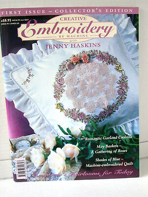 CREATIVE EMBROIDERY BY MACHINE projects patterns tips ideas  VOL 1 NO 1 FIRST ED
