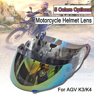 Full Face Motorcycle Helmet Visor Lens Shield UV Protect For AGV K3/K4 Motocross