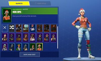 Fortnite Account For Sale Xmas Skins And Black Knight 140 50