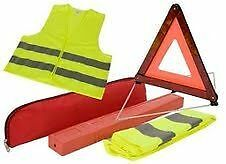 50 x ...,.,.,.,.EU Emergency ---------- Warning Triangle Sign and Vest  - JOBLOT