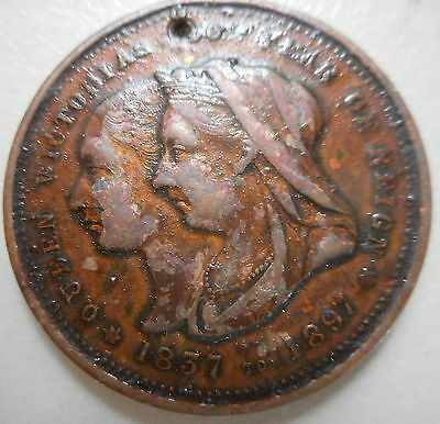 1897 Victoria Diamond Jubilee (60th)  Celebrations -  Hobart  Medallion