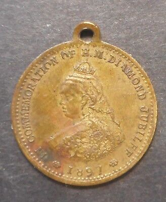 Great Britain 1897 Victoria Diamond  Jubilee - Barret Sweets Medal  / Medallion
