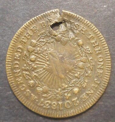 Great Britain 1837 Victoria Coronation Medal / Medallion Holed