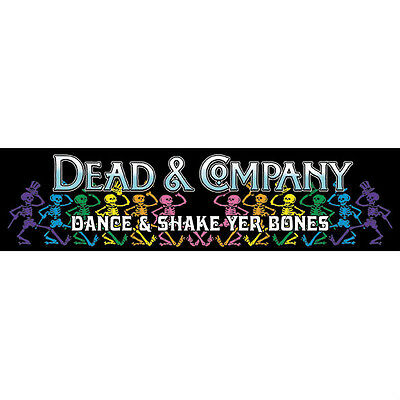 Dead And Co.Grateful Dead Dancing Skellys On Black  Dance And Shake Your Bones!