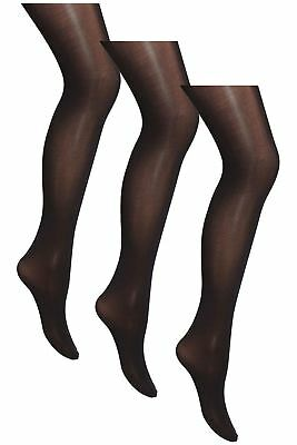 100 80 60 Den Black Plain 3 PACK School Opaque Tights Older Girl's 11 - 16 Years