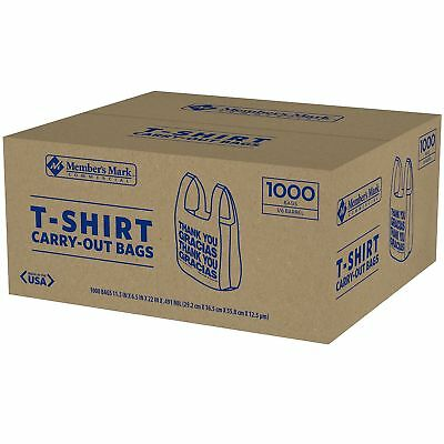 T-Shirt Thank You Plastic Grocery Store Shopping Carry Out Bag 1000 ct Recyclab