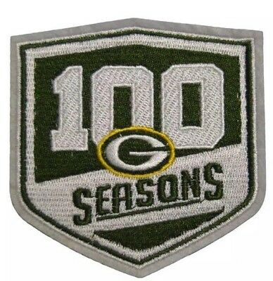 Packers Green Bay 100th Seasons Jersey Patch Badge Iron On Logo Sew Team NEW 73ebc9d61
