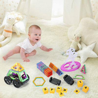 120 pcs set Magnetic Tiles Building Blocks Children Educational Construction Toy
