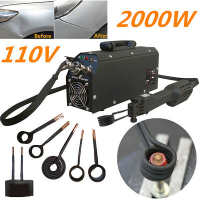 2000W Induction Heater Car Dent Repair Kit Rubber Seal Screw Nuts Removal Tools